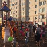 В самом дружном дворе Эжвы открыли детскую площадку