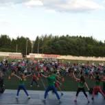 Более тысячи барнаульцев вышли на уличную тренировку