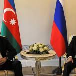 Президенты России и Азербайджана обсуждают проблему сокращения товарооборота