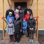 Пятый дом для многодетной семьи построен в рамках проекта «Единой России»