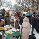 Жителей Советского района города Рязани угостили блинами