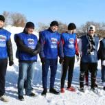 Ишимские единороссы сыграли в мини-футбол на снегу