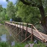 В Сапожке отремонтировали переход через реку Мошка