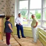 В рамках партпроектов в Клепиковском районе ремонтируют детский сад и школьный спортзал