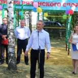 В Путятинском районе установили новый спорткомплекс