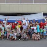 Воскресенские единороссы приняли участие во флешмобе к Дню российского флага