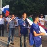 В районах республики отметили День Государственного флага