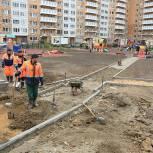 Партийцы Долгопрудного проверили ход благоустройства в микрорайоне Центральный