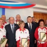Участники IV Всероссийской Спартакиады пенсионеров посетили Саратовскую областную Думу