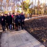 Вячеслав Володин и Валерий Радаев ознакомились с завершающим этапом масштабной реконструкции горпарка в Вольске