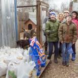 Одинцовские молодогвардейцы и сторонники Партии помогли местному приюту для животных