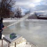 В Касимове заливают каток у ФСК «Лидер»