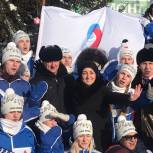 Депутат Госдумы встретилась с бойцами «Снежного десанта» на маршруте