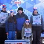 Кубок «Единой России» вручили самой спортивной семье области на «Лыжне России»