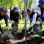 Единороссы помогают озеленять столицу
