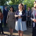 В Ивантеевке секретарь местного отделения Партии осмотрела территорию, где планируется возведение школы