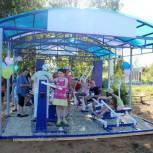 В деревне Горьковской Сысольского района открыли новую спортивную площадку