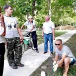 Новомичуринцам рассказывают о благоустройстве парка на проспекте Смирягина