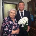 Первомайский район: Андрей Долов поздравил ветерана с юбилеем