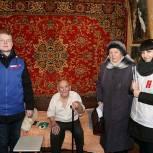 Партийные активисты в округе Луховицы поздравили ветеранов с Днем защитника Отечества