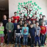 В Борковском детском доме прошел мастер-класс с абсолютным чемпионом по гиревому спорту