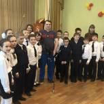 Михаил Диктованный провел «Урок доброты» в школе-интернате «Кадетский корпус»