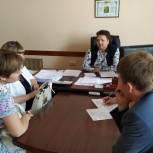Депутат Госдумы рассмотрела обращения жителей Ухоловского района