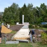 В Путятинском районе проводится реконструкция обелиска