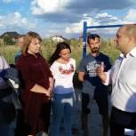Единороссы обсудили с курянами проект мини-парка на проспекте Дружбы