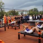 Нацпроект: В Ртищеве открыли спортивную площадку для сдачи норм ГТО