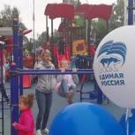 Единороссы Солнечногорска приняли участие в открытии детских площадок