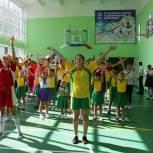 В рамках партпроекта «Детский спорт» в школе Урюпинского района открылся обновленный спортзал