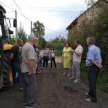 Депутаты гордумы проконтролировали ход ремонта дороги к школе