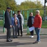 Дмитрий Голубков обсудил с жителями Звенигорода вопрос реконструкции двух спортивных площадок