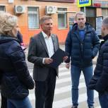 Владимир Жук проверил ремонт дорог в Дзержинском