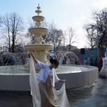 В Ртищево в рамках партпроекта открыт обновленный фонтан