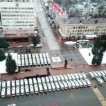 Александр Богомаз вручил ключи от новых автобусов автотранспортным предприятиям региона