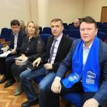 Партийцы Долгопрудного организовали встречу с жителями и представителем ЕИРЦ
