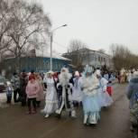 В поселке Сараи состоялся Рождественский парад Дедов Морозов