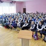 Михаил Диктованный провел «Урок доброты» для 5-классников Звенигородской школы №1