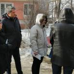 Партийцы с представителями прокуратуры, водоснабжающей организации и ГЖИ проверили аварийный участок водопровода в Приокском районе