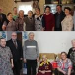 Единороссы Сысольского района поздравили с юбилеем двух тружениц тыла