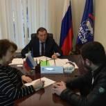 Депутат Госдумы Заур Аскендеров выслушал обращения граждан в приемной «Единой России»