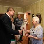 Лидер единороссов Касимова поздравил труженицу тыла с юбилеем