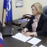 Депутат Госдумы Татьяна Соломатина принимает вопросы от граждан дистанционно