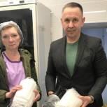 Врачи и персонал саратовской детской инфекционной больницы получили маски и дезсредства