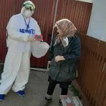 Жителям Заокского волонтеры привозят продукты, медикаменты и предметы первой необходимости