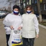 Ступинские волонтеры-молодогвардейцы доставили проднабор многодетной семье