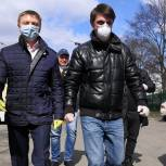 Владимир Жук и Ленинские волонтёры помогли жителям Видного