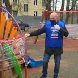 Волонтёры проверили качество дезинфекции детских площадок в Больших Вязёмах